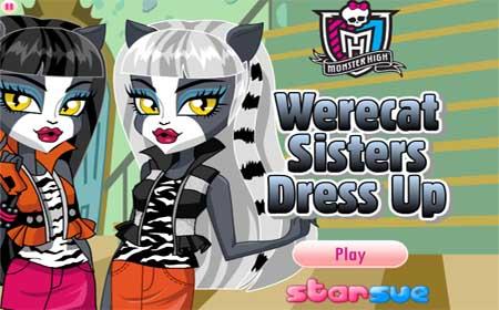Сестры Кошко-Оборотни/Werecat-Sisters Одеваем Кошечек